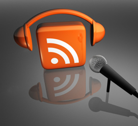 Picture of RSS with headphones and a microphone
