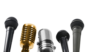 Picture of a selection of microphones