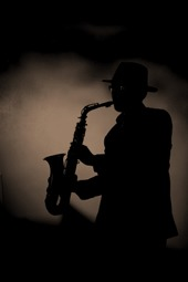 Funky Jazz sax player