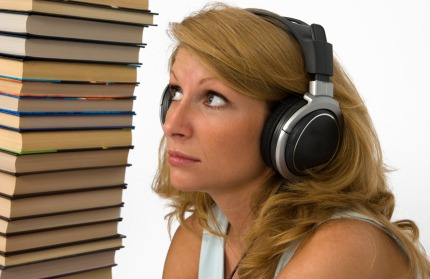 Picture of woman listening to Audio Books