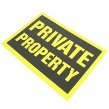 Image of private property sign