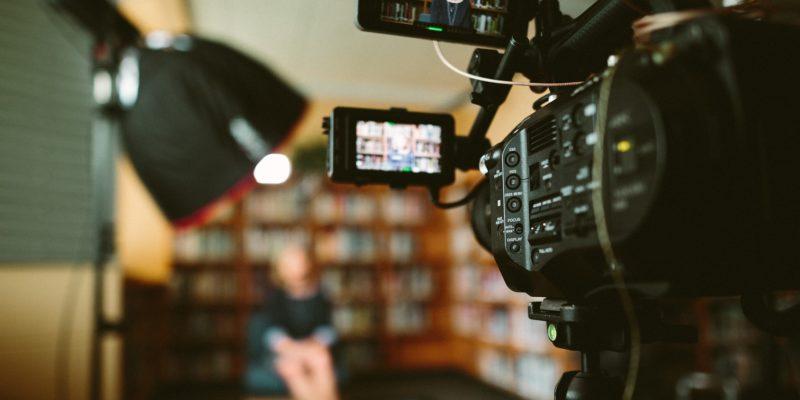 Filmmaker filming